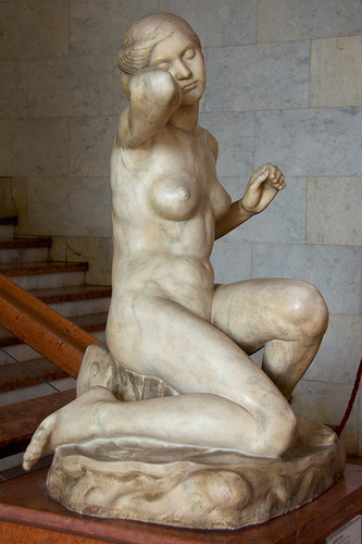 Venus Anadyomené by Ödön Moriet, c. 1912. Hungarian National Gallery